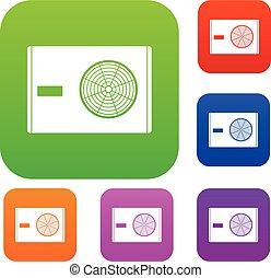 Outdoor compressor of air conditioner set color collection