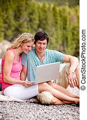 Outdoor Computer Couple