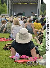 Outdoor concert of summer - Outdoor free jazz concert on...