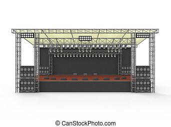 Outdoor Concert Stage - Outdoor Concert Stage isolated on...