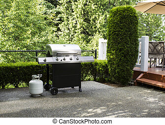 Outdoor cooker on House Patio