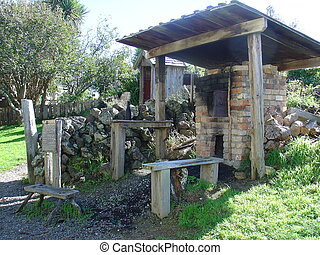 Outdoor Cooking Shed - A replica of an outdoor cooking shed...