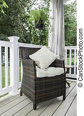 Outdoor Decor - Patio Chair with Pillows