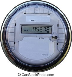 Outdoors digital household meter for measuring your energy used.
