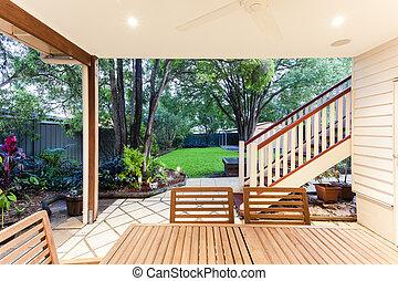 Outdoor entertaining area - Small outdoor entertaining area...