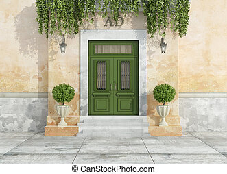 Outdoor entrance of a country house - Entrance of a country...