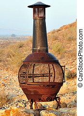 Outdoor fire heater