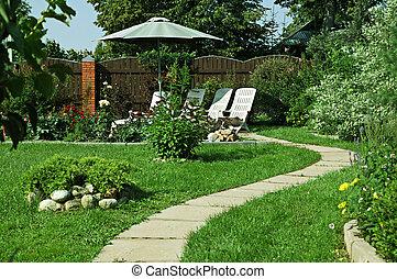 Outdoor garden lounge