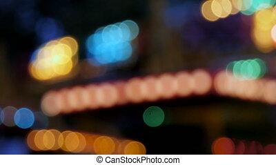 Outdoor illumination, flashing, the celebration of Christmas.