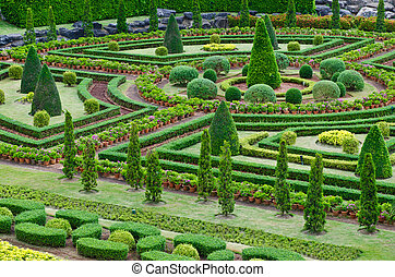 Beautiful tropical landscape garden at Pattaya, Thailand
