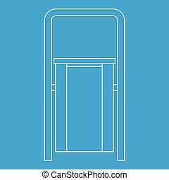 Outdoor litter waste bin icon, outline style
