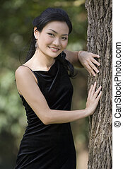 Outdoor Model 16 - A beautiful young chinese woman poses...