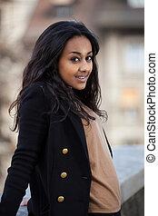 young african american teenage girl