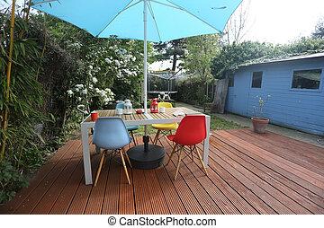 outdoor office in the garden