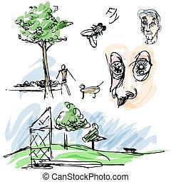 Outdoor Park Sketches