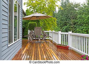Outdoor patio closed due to heavy rain