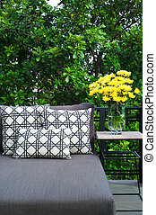 Outdoor patio seating with daybed - Outdoor patio seating...