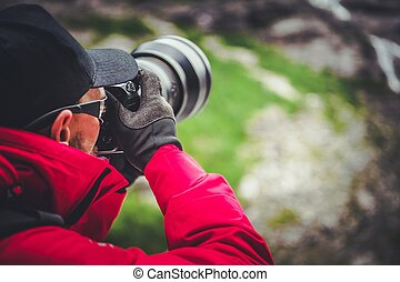 Outdoor Photographer at Work