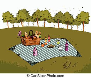 Outdoor picnic in park