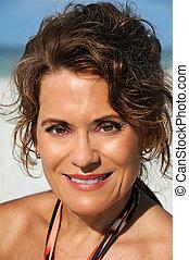 Beautiful Mature Woman - Outdoor Portrait of a Beautiful...