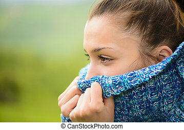 Outdoor portrait of a young woman - Beautiful young woman ...