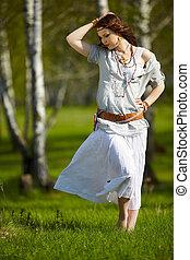 beautiful hippie girl