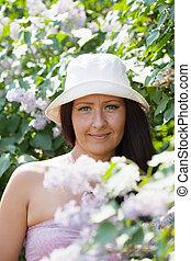 Outdoor portrait of  woman