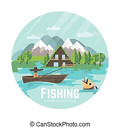Outdoor recreation and fisherman