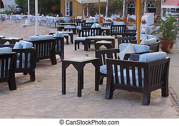 outdoor restaurant, interior