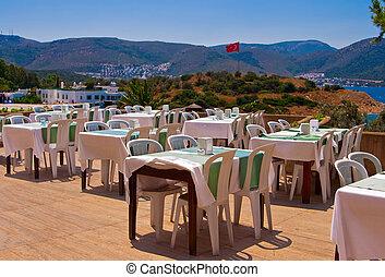 Outdoor Restaurant - outdoor restaurant near the beach ...