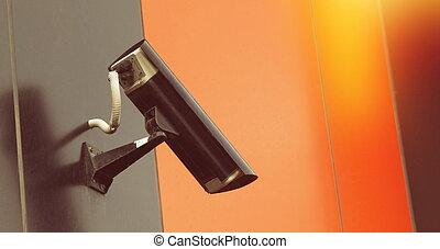 Outdoor security camera closeup