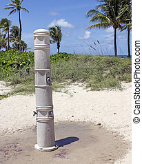 Outdoor Shower on a Fort Lauderdale Beach