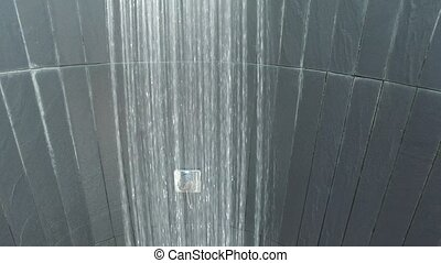 outdoor shower with fresh water - travel, tourism, vacation...