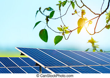 Outdoor solar panels
