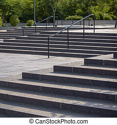 Outdoor stairs in Salt Lake City on a sunny day