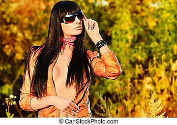 outdoor - Shot of a sexy woman posing outdoor.