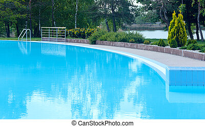 Outdoor swimming pool view