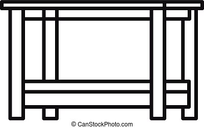 Outdoor table icon, outline style