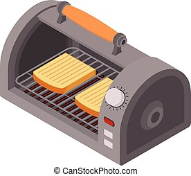 Outdoor toaster icon, isometric style