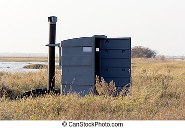 Outdoor toilet at a picnic spot