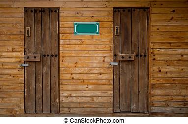 Outdoor Toilet Wooden - Men and Woman Outdoor Toilet Wooden...