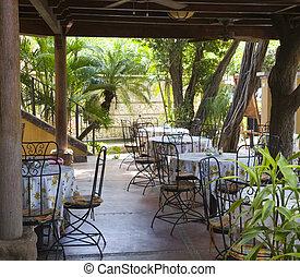 Outdoor Tropical Cafe