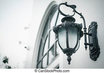 Outdoor vintage lamp light fixture