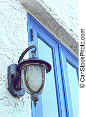 Outdoor wall lamp - vintage style.