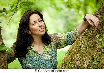 outdoor woman portrait