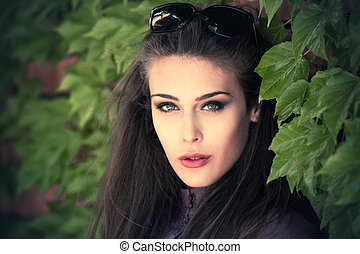 outdoor woman portrait