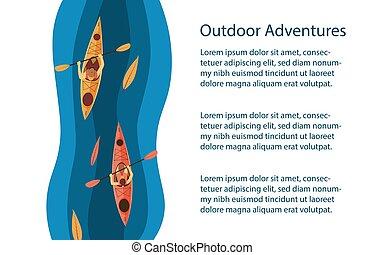 Outdoors activities background