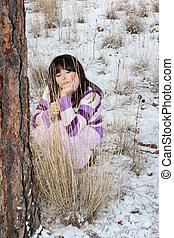 Outdoors teen