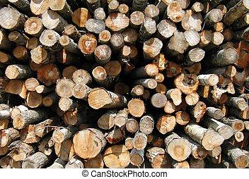 woodpile - outdoors woodpile