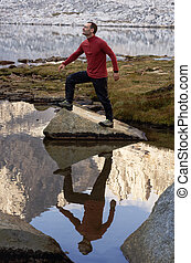 Outdoorsman With Reflection